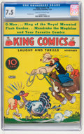 Platinum Age (1897-1937):Miscellaneous, King Comics #8 (David McKay Publications, 1936) CGC VF- 7.5 Creamto off-white pages....