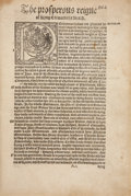 Books:Early Printing, Edward Hall. The Prosperous Reigne of Kyng Edward theFourth. [London: Rychard Grafton, 1550.]. The entirety of ch...