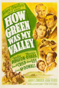 "Movie Posters:Drama, How Green Was My Valley (20th Century Fox, 1941). One Sheet (27"" X 41"") Style A.. ..."