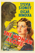 "Movie Posters:Hitchcock, The Woman Alone (Gaumont, 1936). One Sheet (27"" X 41"") Also Known As ""Sabotage."". ..."