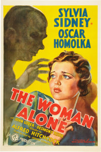 "The Woman Alone (Gaumont, 1936). One Sheet (27"" X 41"") Also Known As ""Sabotage."""
