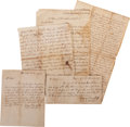 Autographs:Statesmen, Gilbert Tippett (Tory) Archive, consisting of five documents andtwo letters dating between 1759 and 1779, many concerning T...(Total: 7 Items)