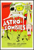 """Movie Posters:Science Fiction, Astro-Zombies (Geneni, 1968). One Sheet (27"""" X 41""""). Science Fiction.. ..."""