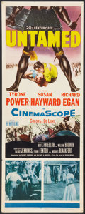 "Movie Posters:Adventure, Untamed (20th Century Fox, 1955). Insert (14"" X 36""). Adventure....."
