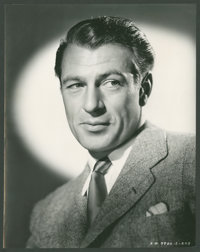 """Gary Cooper by Robert Coburn (United Artists, Late 1930s). Portrait Stills (2) (7.25"""" X 9.25""""). Miscellaneous..."""