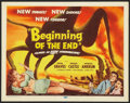 "Movie Posters:Science Fiction, Beginning of the End (Republic, 1957). Title Lobby Card (11"" X14""). Science Fiction.. ..."