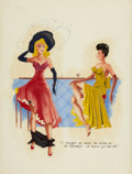 Pin-up and Glamour Art, AMERICAN ARTIST (20th Century). Untitled #4. Mixed media onboard. 28.5 x 21.5 in.. Not signed. ...