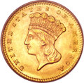Gold Dollars, 1860 G$1 MS64 PCGS. CAC....