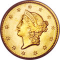 Gold Dollars, 1849 G$1 Closed Wreath MS66 PCGS. CAC....