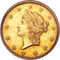 Gold Dollars, 1850-C G$1 MS62 PCGS. CAC....