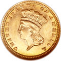 Gold Dollars, 1881 G$1 MS68 NGC....