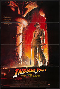 """Indiana Jones and the Temple of Doom (Paramount, 1984). One Sheet (27"""" X 4"""") Flat Folded. Adventure"""