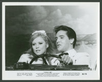 "Elvis Presley and Julie Adams in ""Tickle Me"" (Allied Artists, 1965). Stills (8) (8"" X 10""). Elvis Pr..."