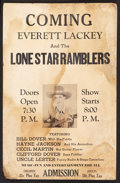 """Movie Posters:Western, Everett Lackey and the Lone Star Ramblers (Various, 1940s). Window Card (13"""" X 20""""). Western.. ..."""