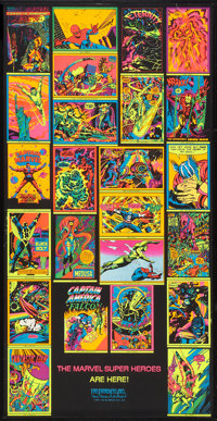 """The Marvel Super Heroes (Third Eye Inc., 1971). Blacklight Poster (19.25"""" X 38""""). Miscellaneous"""