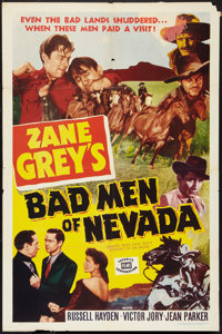 "Bad Men of Nevada (Favorite Films, R-1951). One Sheet (27"" X 41""). Western"
