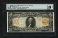 Large Size:Gold Certificates, Fr. 1186 $20 1906 Gold Certificate PMG Very Fine 30 Net....