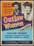 """Movie Posters:Western, Outlaw Women (Howco, R-1956). Poster (30"""" X 40""""). Western.. ..."""