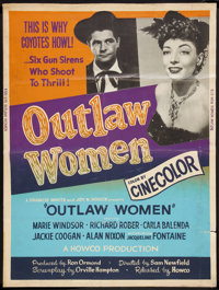 """Outlaw Women (Howco, R-1956). Poster (30"""" X 40""""). Western"""