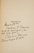 Autographs:Celebrities, Clarence Darrow Book Signed. The Story of My Life. New York:Charles Scribner's Sons, 1932. First edition. Inscribed by ...