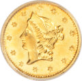 California Fractional Gold: , 1853 50C Liberty Round 50 Cents, BG-428, R.3, MS64 NGC. NGC Census:(2/0). PCGS Population (5/1). (#10464)...