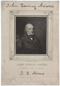 Autographs:U.S. Presidents, John Quincy Adams Portrait Engraving Signed. This N[athaniel] Dearborn engraving features the half-bust of the sixth preside...