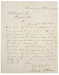 "Autographs:U.S. Presidents, Millard Fillmore Letter Signed. One page, 8"" x 10"", February 12, 1853, Washington, regarding the reappointment of Secret Ins..."