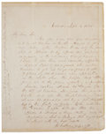 Autographs:U.S. Presidents, Franklin Pierce Autograph Letter Signed as Senator from New Hampshire. Two pages including integral address leaf, penned on ...
