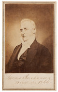 "Autographs:U.S. Presidents, James Buchanan Carte de Visite Signed ""James Buchanan/ 21 September 1866"" in the lower border, 2.75"" x 4"". B..."
