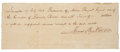 Autographs:U.S. Presidents, James Buchanan Manuscript Document Signed, a receipt for a paymentof twenty dollars for services rendered to the estate of ...