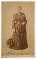 "Autographs:Non-American, Lili'uokalani Photograph Signed, 5.25"" x 8.5"", showing the lastmonarch of the Hawaiian Islands in sepia holding a graceful ..."