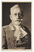 "Autographs:Statesmen, Kaiser Wilhelm II of Germany Photograph Signed ""Wilhelm""...."