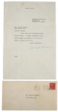 "Autographs:U.S. Presidents, Herbert Hoover Typed Letter Signed as President-Elect ""HerbertHoover""...."