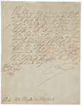 "Autographs:Non-American, King Frederick ""The Great"" II of Prussia Letter Signed. One page,in German, 7.5"" x 9.5"", Potsdam, April 25, 1749. ..."