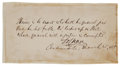 "Autographs:Statesmen, Chief Justice Salmon Portland Chase Autograph Quote Signed ""S.P. Chase""...."