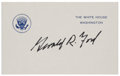 "Autographs:U.S. Presidents, Gerald R. Ford White House Card Signed as President ""Gerald R.Ford""...."