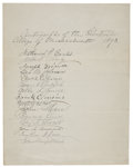 "Autographs:Statesmen, Nathaniel Prentice Banks Document Signed ""Nathaniel P.Banks""...."