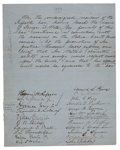 "Autographs:Statesmen, Supreme Court Justice Horace Gray Document Signed ""Horace GrayJr.""..."