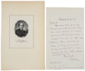 """Autographs:Statesmen, Chief Justice Salmon P. Chase Autograph Letter Signed """"S PChase""""...."""