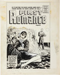 Original Comic Art:Covers, Harvey Comics Romance Cover Original Art (Harvey. c. 1954)....