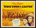 "Movie Posters:Western, Ridin' Down the Canyon (Republic, 1942). Lobby Card Set of 8 (11"" X14""). Western.. ... (Total: 8 Item)"
