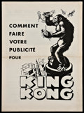 "Movie Posters:Horror, King Kong (RKO, 1933). French Pressbook (Multiple Pages, 14.75"" X10.75""). Horror.. ..."