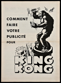 """King Kong (RKO, 1933). French Pressbook (Multiple Pages, 14.75"""" X 10.75""""). Horror"""