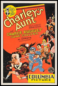 "Charley's Aunt (Columbia, 1930). One Sheet (27"" X 41"")"