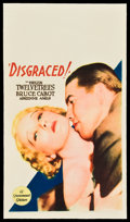 "Movie Posters:Melodrama, Disgraced! (Paramount, 1933). Midget Window Card (8"" X 14"").. ..."