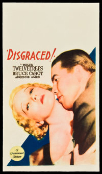 "Disgraced! (Paramount, 1933). Midget Window Card (8"" X 14"")"