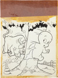 Original Comic Art:Covers, Casper the Friendly Ghost #16 Cover Original Art (Harvey,1954)....