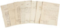 Autographs:Military Figures, John Armstrong Collection of Nine Letters, all are signed (two aresecretarially signed) and dated between October 1812 and ...(Total: 9 Items)