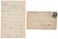 "Autographs:U.S. Presidents, Rutherford B. Hayes Autograph Letter Signed as President. Two pagespenned on first page recto only, on ""Executive Mansion..."