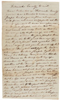 """Autographs:Statesmen, Roger B. Taney Autograph Document Signed """"R. B. Taney""""...."""